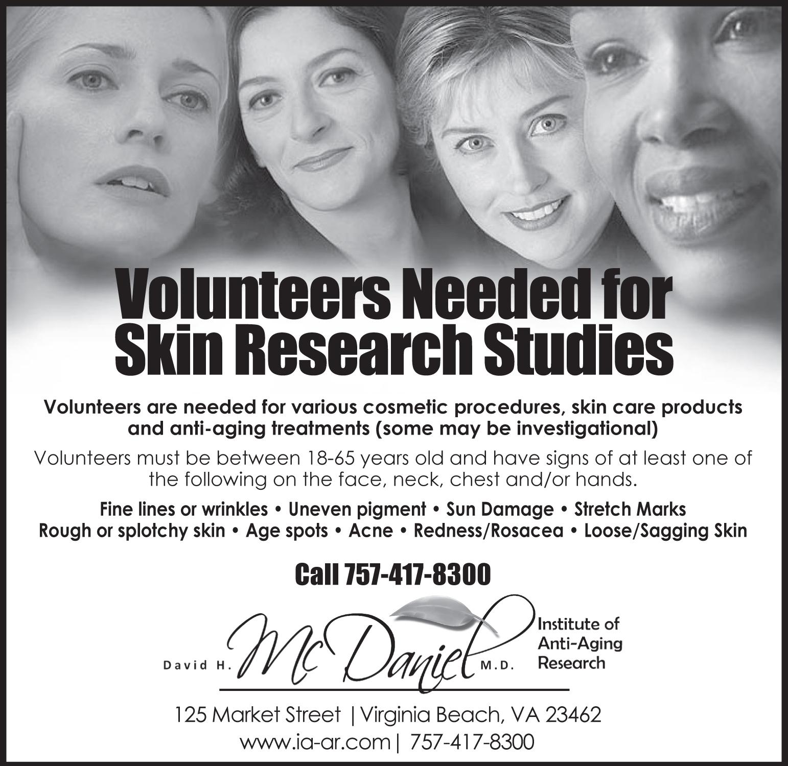 Volunteer For A Study David H Mcdaniel Md Laser Center